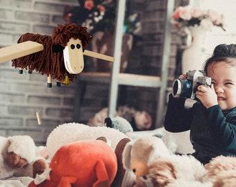 Brown Sheep Crib Nursery Mobile  - Animal Nursery Decor - Kids Room Decor - Sheep Toy -Lamb Decoration - Sheep Lover Gift