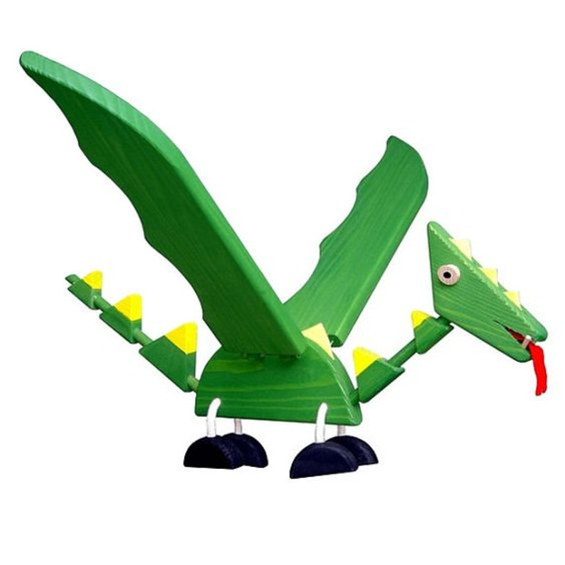 Wooden Flying Dragon Mobile Toy Natural Organic Wooden Toy Unique Baby Shower Gift
