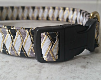 Dog Collar in an unusual braided ribbon style