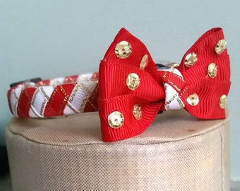 Cat Collar bow tie Christmas