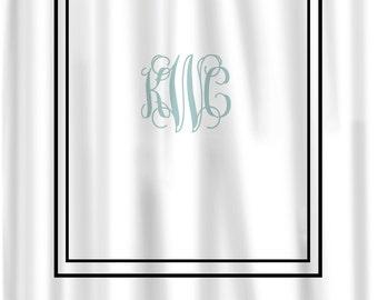 Marvelous Monogrammed Shower Curtain | Etsy