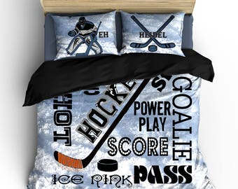 Hockey Bedding Etsy