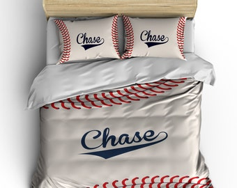 monogrammed stitched baseball theme bedding stitch look baseball design your monogram can change colors - Baseball Bedding