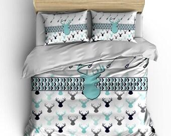 Girl Deer Bedding Etsy