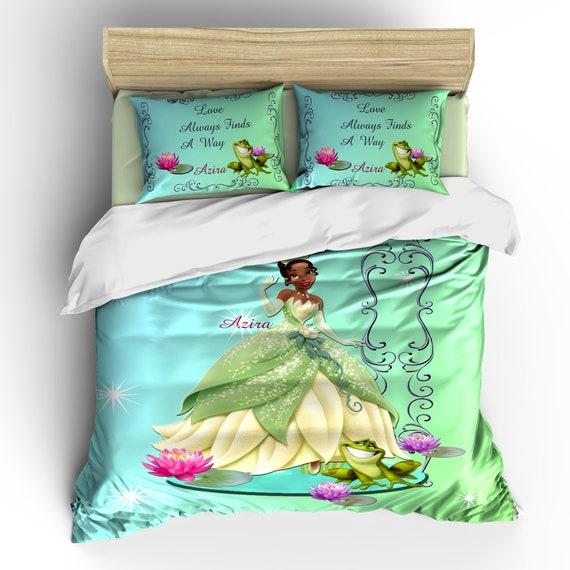 Princess Frog Theme Custom Full Queen Size Comforter Set Etsy
