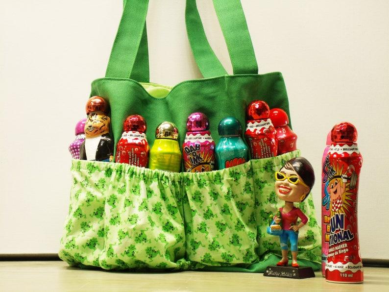 Frog Bingo Bag Bingo Dauber Bag Organizer Tote Bag Green Etsy