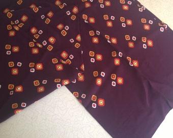Vintage Brown Silk Scarf, Opera Tuxedo Scarf