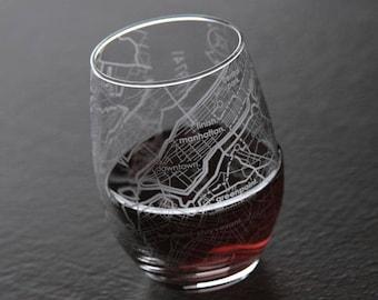 New York Subway Map Drinking Glass 16oz.New York Wine Glass Etsy