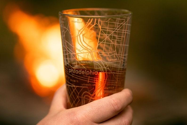 Houston Map Pint Glass Gift