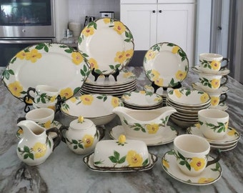 Franciscan Meadow Rose Yellow Dishes - Plates, Bowls, Cups  and Serving Pieces
