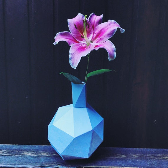 Flower pot 3d papercraft you get a pdf digital file with this etsy image 0 mightylinksfo