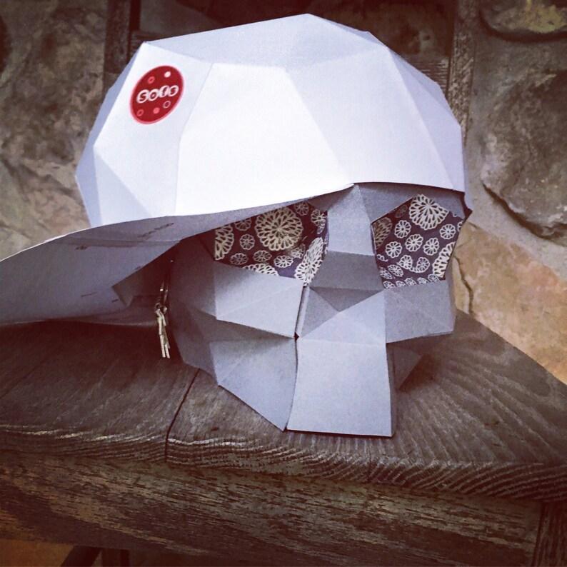 1bad8169c93 SnapBack 3d papercraft BONUS free Skull model. You get a PDF
