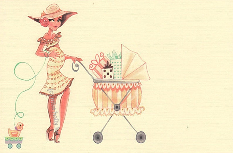 Baby Shower Invitation Set of 45 Custom Order for Gerri by MissHollyLu