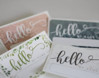 HELLO My Name Is Sticker Pattern Style