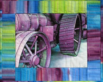 Wheels of Progress 2 Art Quilt