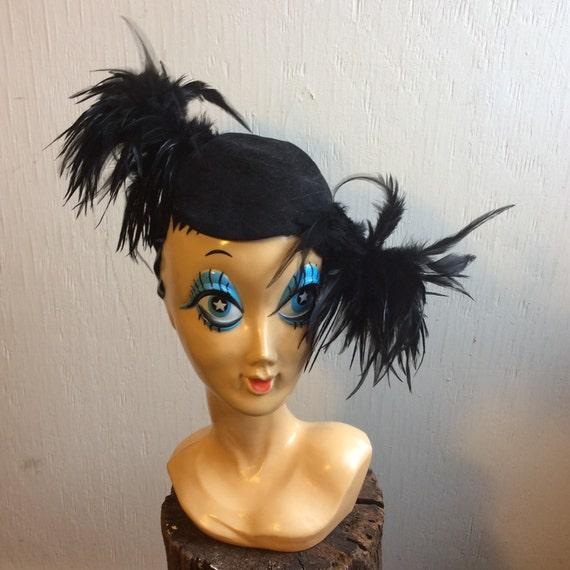Vintage feather hat