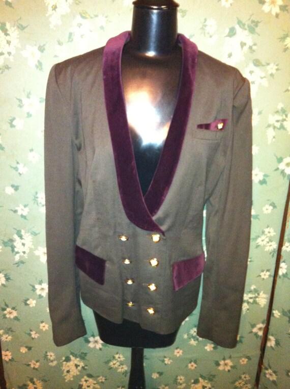 Vintage Louis Feraud Velvet Trim Jacket