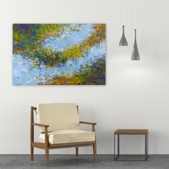 large abstract painting 20x30 canvas wall art impressionist etsy