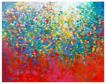Colorful Wall Art, Impressionist Painting, Original Abstract Painting, Abstract Canvas Painting, Abstract Acrylic Painting, Rainbow Art