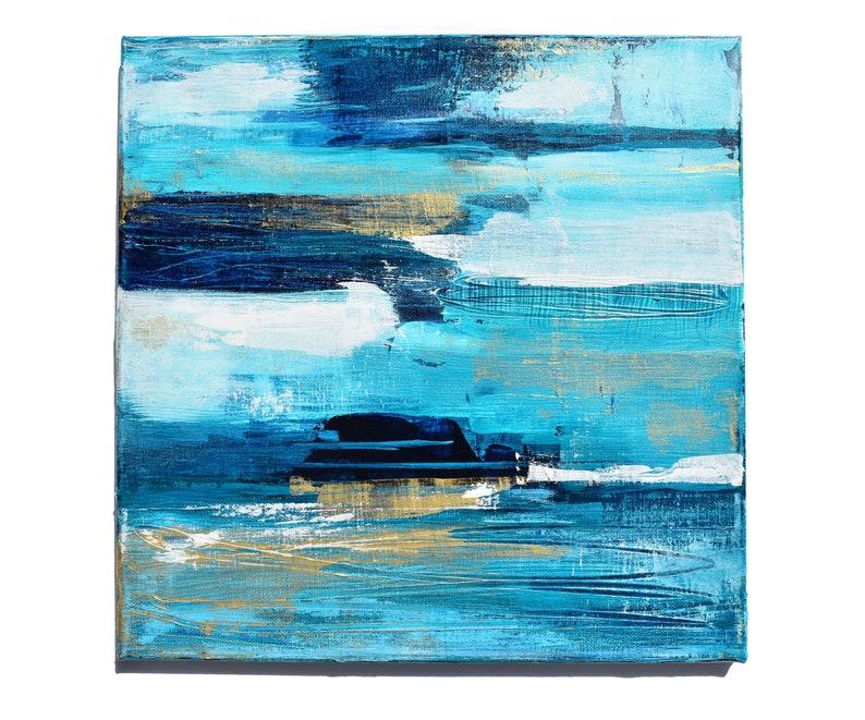 Seaside Shimmer  Original Abstract Painting Ocean Inspired image 0