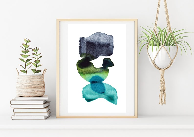 Minimalist Watercolor Print Abstract Art Printable Boho Home image 0