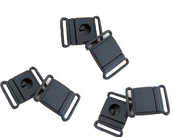 """6 pcs  Breakaway Clasp 3/4"""", Lanyard Hardware, Safety Buckle, 20 mm Lanyard Breakaway Buckle,  Black Plastic Clasp"""