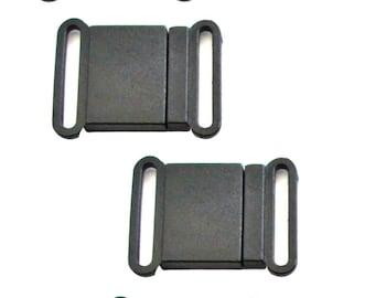 "10 pcs  Breakaway Clasp 3/4"", Lanyard Hardware, Safety Buckle, 20 mm Lanyard Breakaway Buckle,  Black Plastic Clasp, Breakaway Clip"