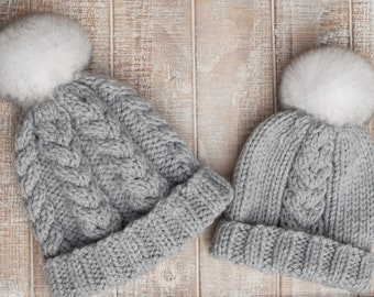 80d83061e61 Women s Cozy Handknit Braided Cable Hat in Natural Cream
