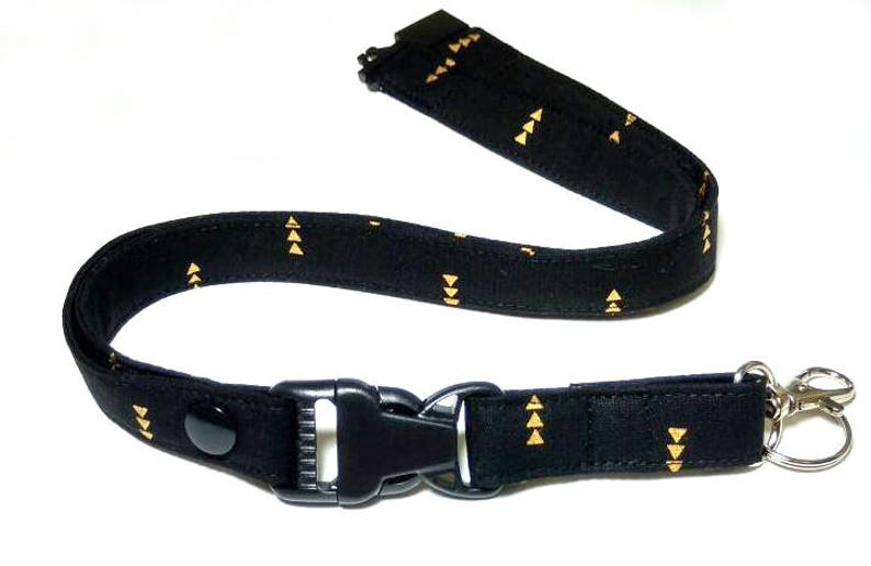 Lanyard Tribal Black and Gold or White Arrow Key Lanyard image 0