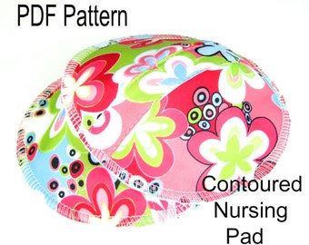 PDF Sewing Pattern for Contoured Nursing Pad Sewing Pattern, Breast Pad Pattern, Contoured Pad with Leakproof Layer