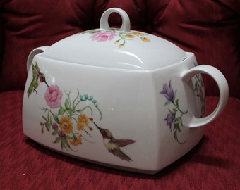 Tureen,  Soup, Hand Painted Porcelain