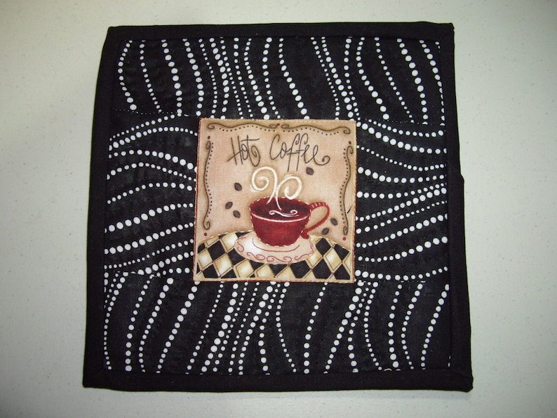 Hot Coffee Mini Quilt Mug Rug