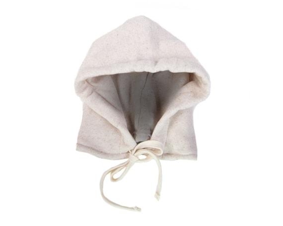 Fleece Tie Hooded Hat Fleece Hat Unisex Detachable Hoodie SAMPLE SALE ADULT Heather Oatmeal Hoodie Hat Rain Hoodie Hat Hooded Hat