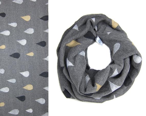 c8b9d7eaaf03 Regensturm Infinity Schal von Hand gedruckt Sweatshirt   Etsy