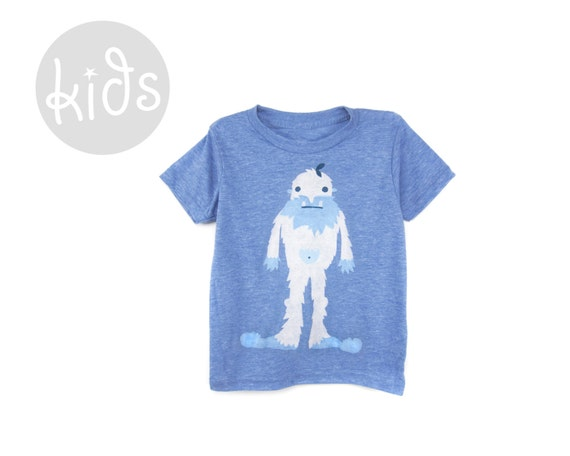 Crew Neck Short Sleeve Cotton Graphic Tshirt in Heather Blue and Rainbow Paint Brush Tee Baby Kids /& Youth