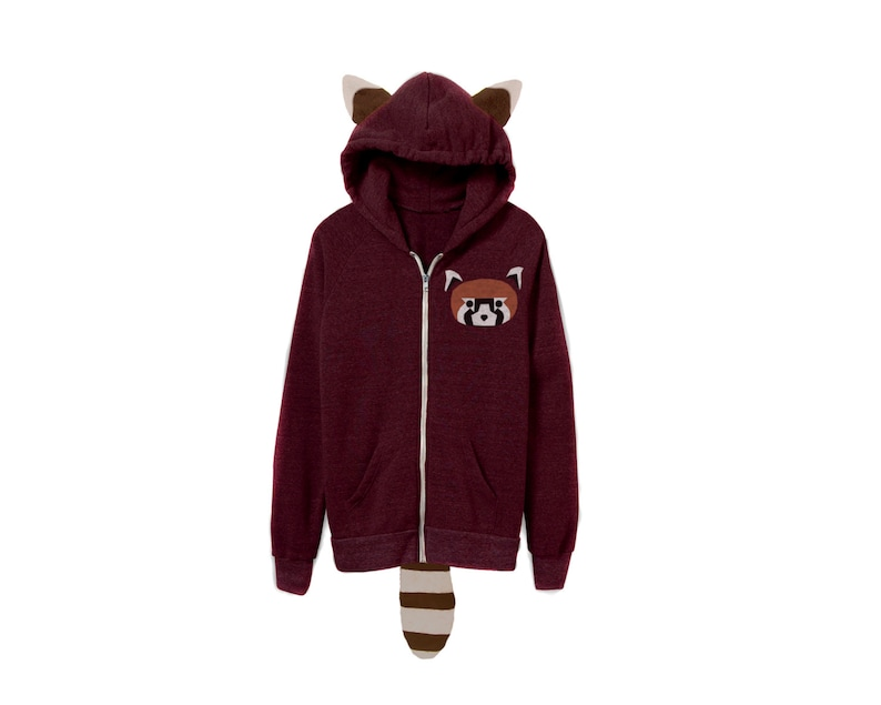 8eb0b97c5 Geo Red Panda Hoodie Red Panda Gift Red Panda Gifts Panda | Etsy