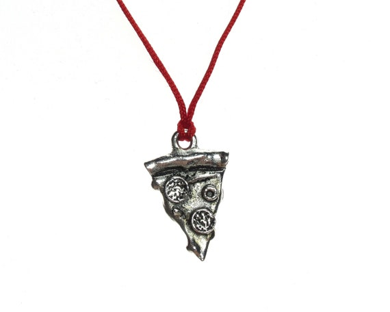20PCs Gift Silver Tone Pizza Charm Pendants 20x19mm