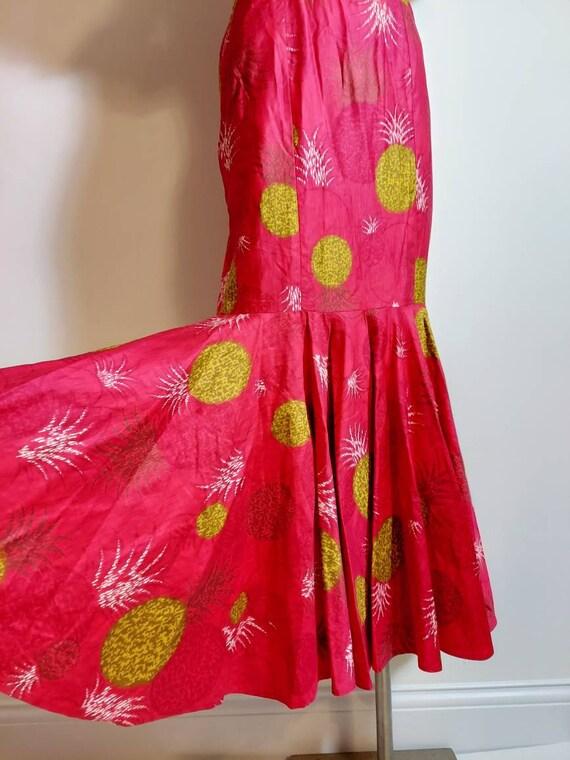 vintage 50s 60s Royal Hawaiian dress / hostess dr… - image 7