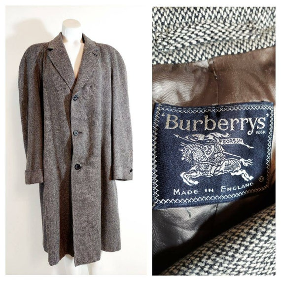 Vintage Burberry tweed coat / vintage Burberry woo