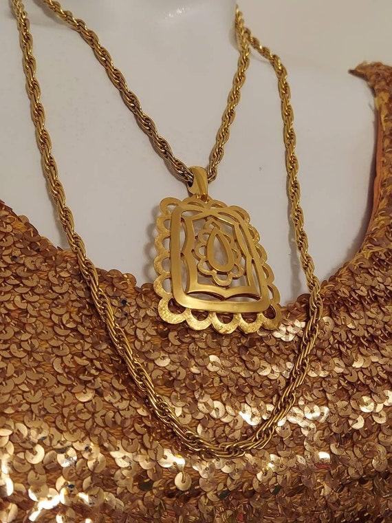 Vintage Crown Trifari Necklace / vintage 60s 70s T