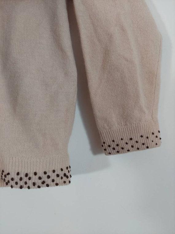 Vintage 50s cardigan / 50s angora sweater / 50s p… - image 6
