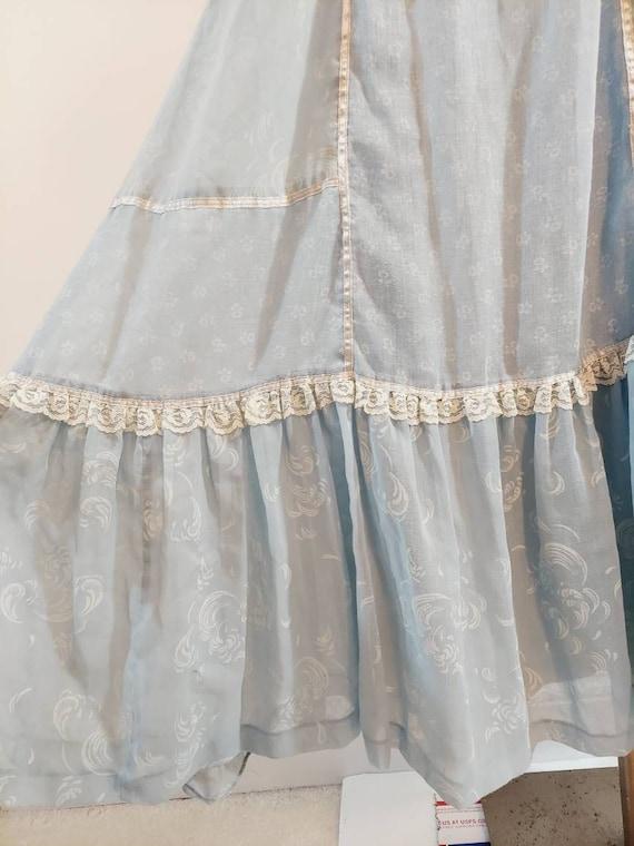 vintage Candi Jones dress  / 70s boho dress / gun… - image 5