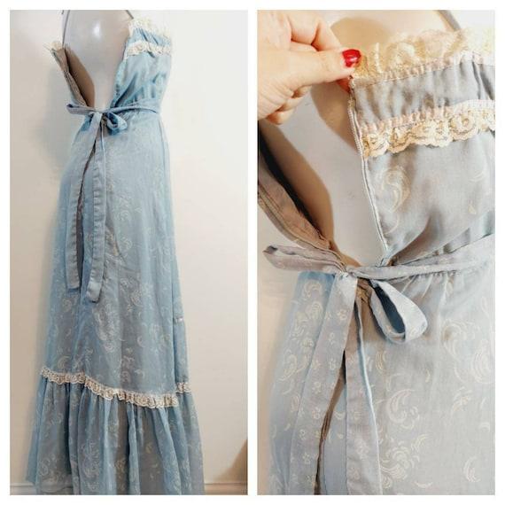 vintage Candi Jones dress  / 70s boho dress / gun… - image 9