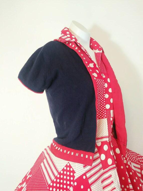 Vintage 40s Cashmere Cardigan Sweater / Vintage 40