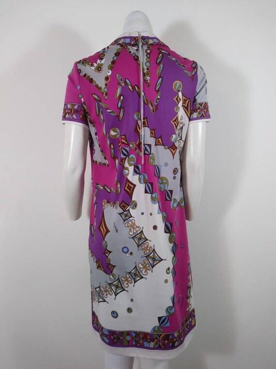 70s signed Saul dress / Pucci print style dress /… - image 9