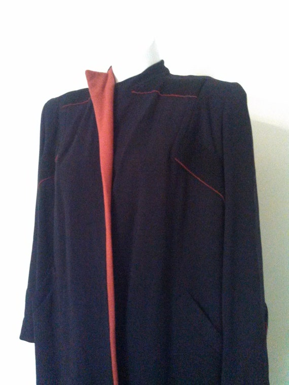 vintage 40s wool coat by Mangone New York / 40s na