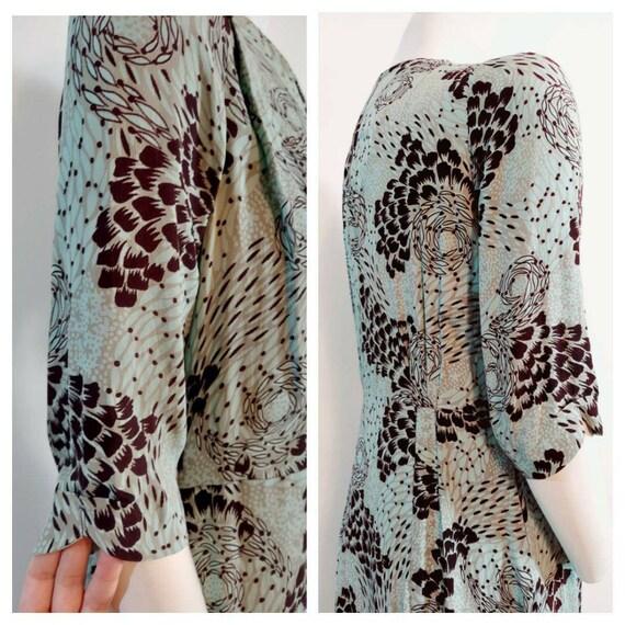 Vintage 40s rayon dress / 40s novelty print dress… - image 6