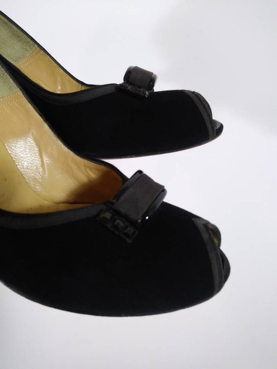 Vintage 50s heels / 50s Peep Toe Heels / vintage … - image 5