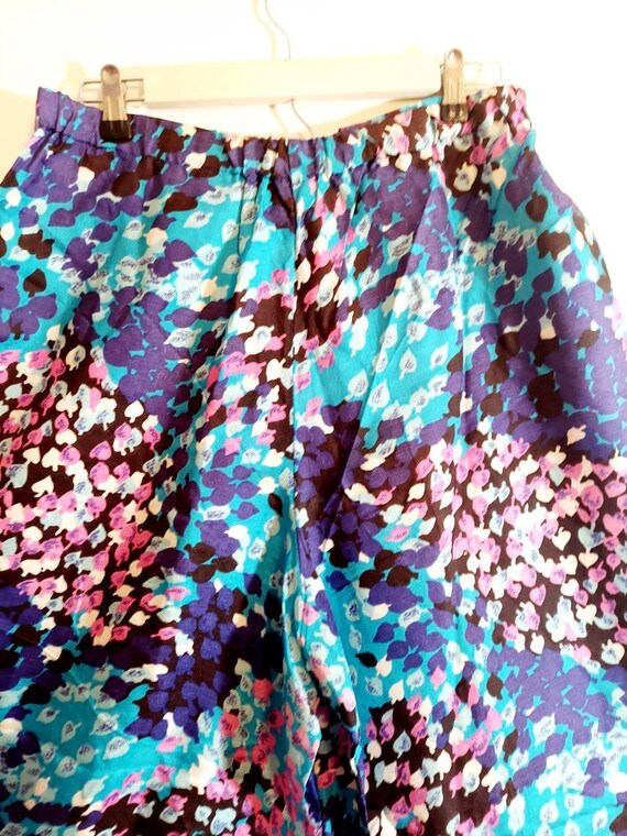 Vintage 60s Psychedelic palazzo pants / 60s 70s w… - image 5