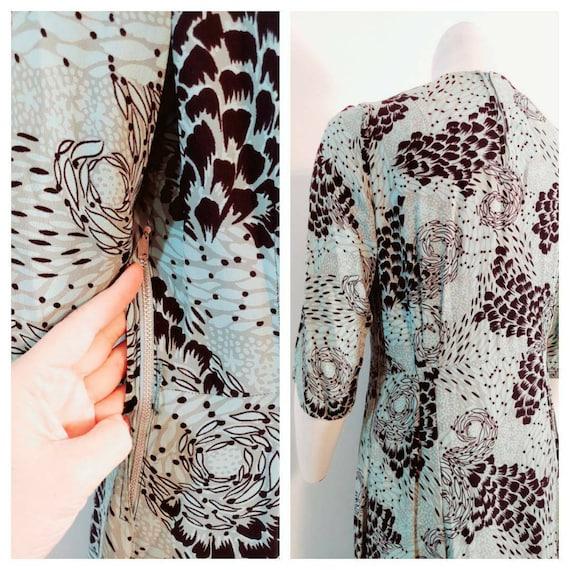 Vintage 40s rayon dress / 40s novelty print dress… - image 8